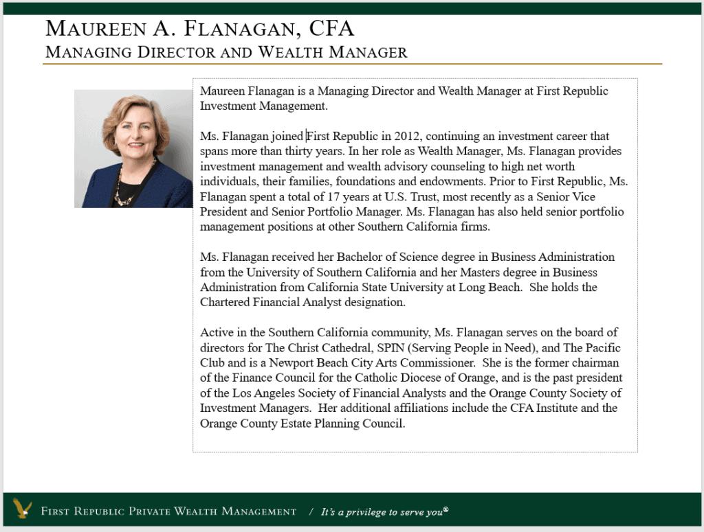 Maureen A. Flanagan, CFA
