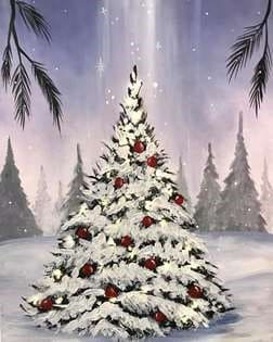 "AFWA Holiday Virtual Painting Social ""I'm dreaming of a White Christmas!"""